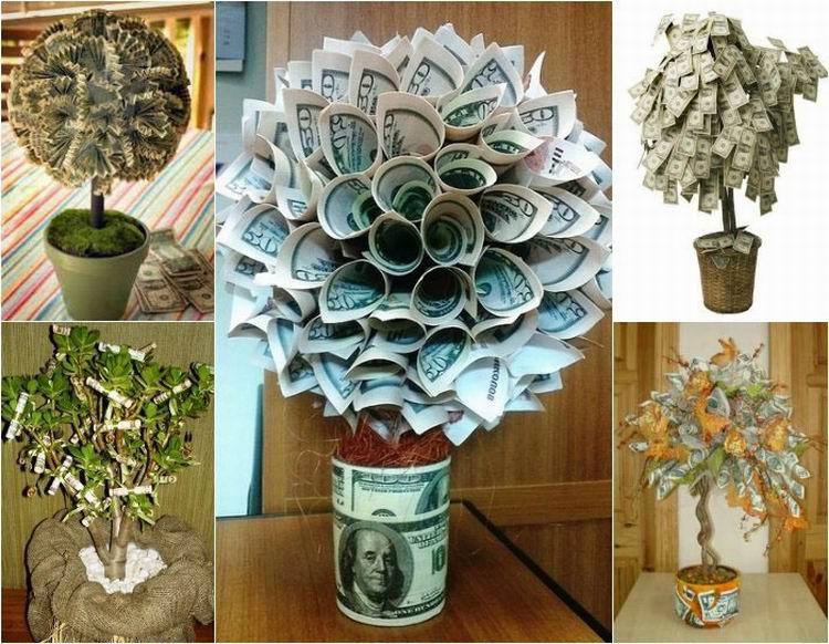 Что сделать своими руками денежное дерево 83