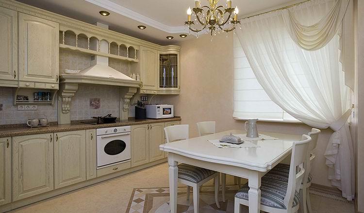 классическая белая кухня в интерьере фото