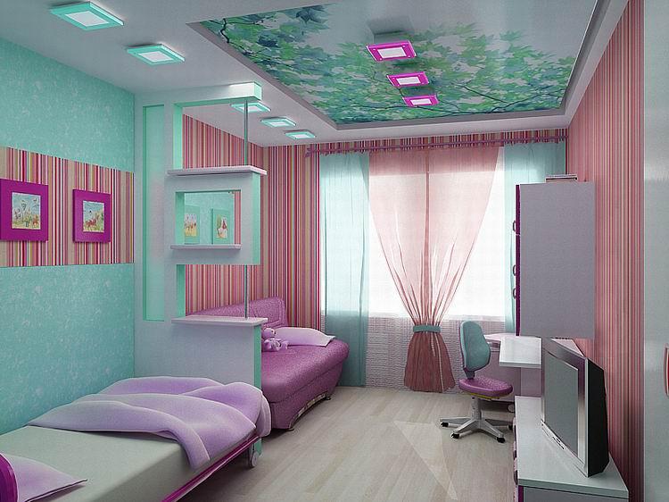 дизайн комнаты для двух подростков