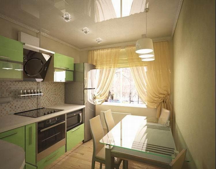 Ремонт кухни 9 квметров