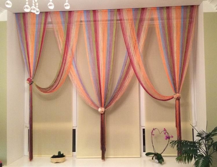 Дизайн из нитяных штор