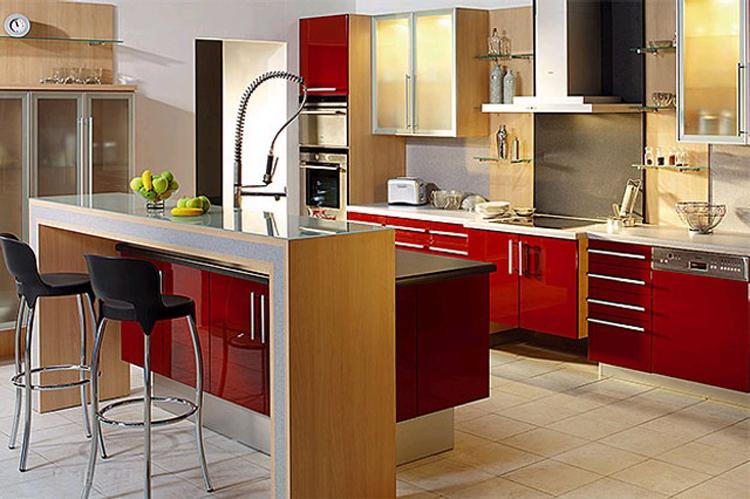 Сочетание цвета кухни фуксия в интерьере