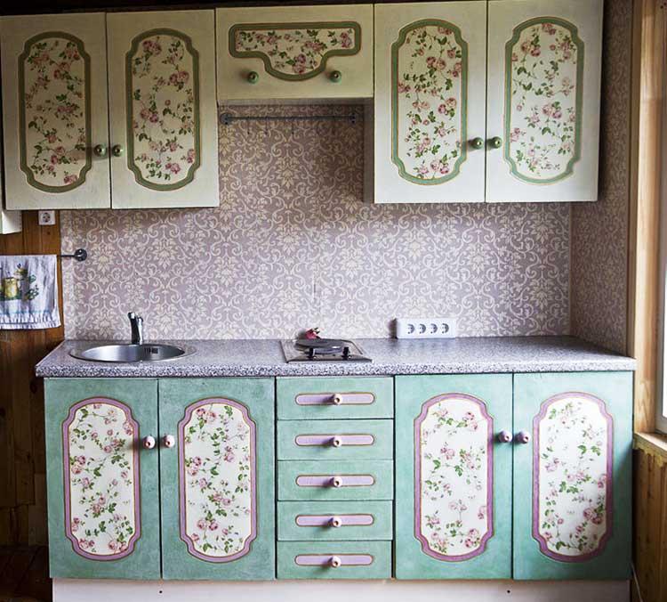 Своими руками мастер класс декупаж кухонной мебели
