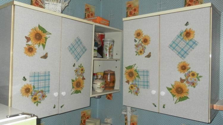 Декупаж кухонной стенки своими руками 61