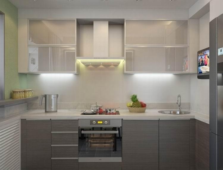 Дизайн кухни 6 м с балконом