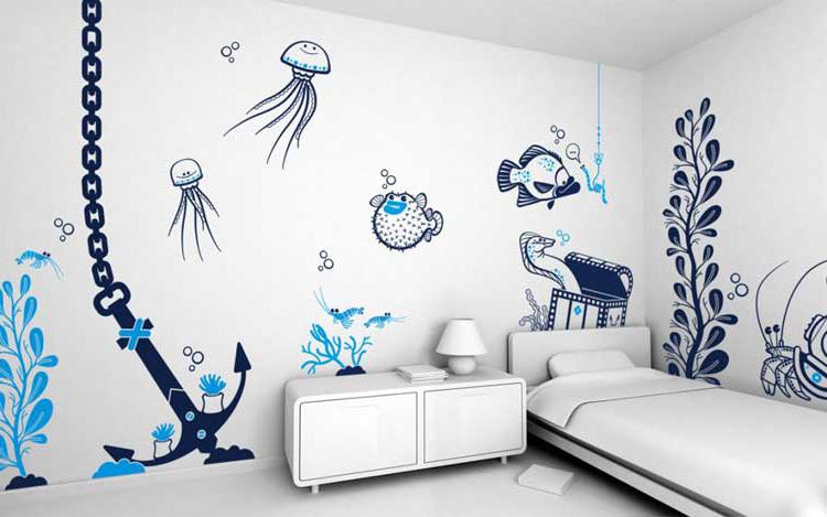 Смотреть рисунки на стенах своими руками