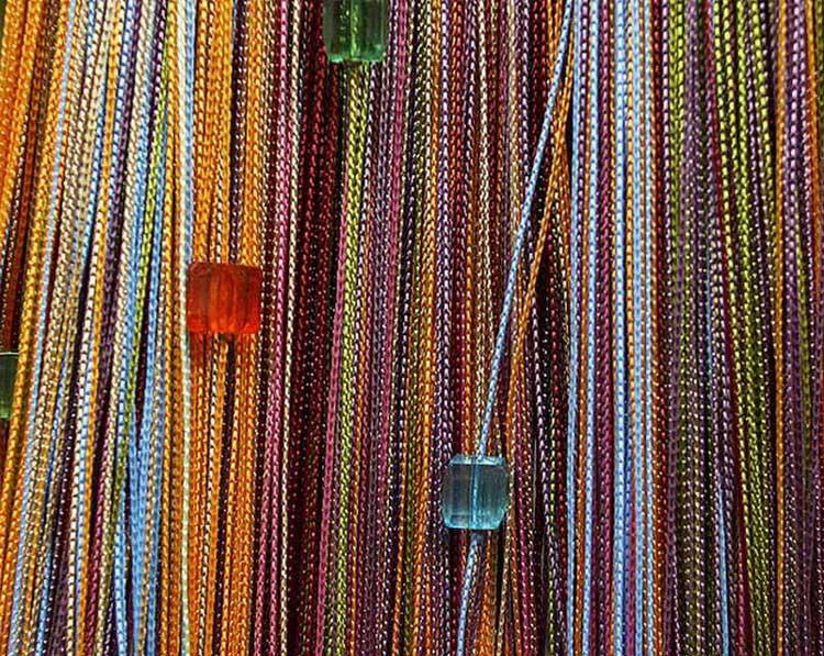 Фото шторы нитяные в интерьере
