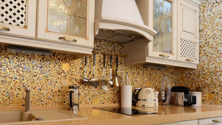 Дизайн кухни с мозаичной плиткой дизайн