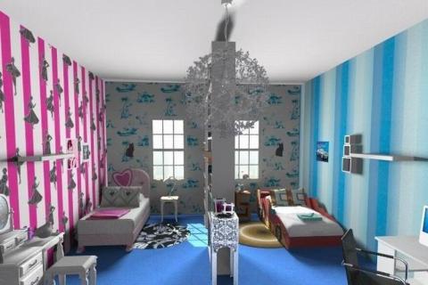 Две цветовые гаммы в одной комнате