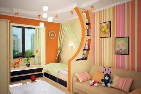 Разделение комнаты на отдельные зоны