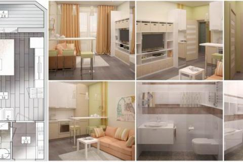 Авторский дизайн-проект небольшой квартиры