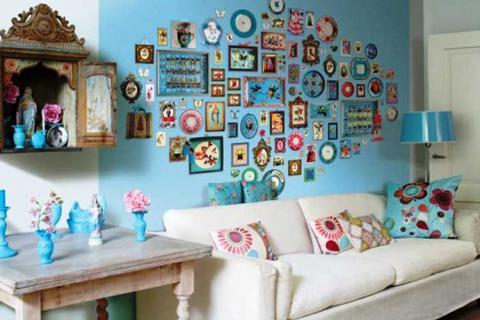 картинки и часы как украшение интерьера