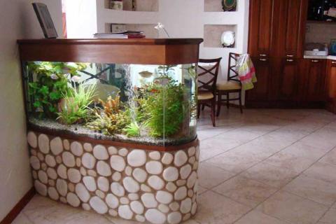 аквариум - барная стойка