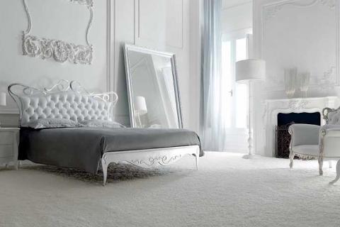 белая спальня в стиле арт деко
