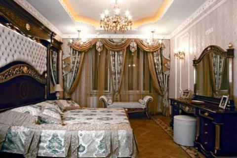 спальня стиля барокко