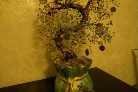 Дерево изобилия из бисера