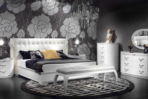 черный цвет в интерьере спальни