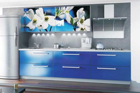 кухня с цветами