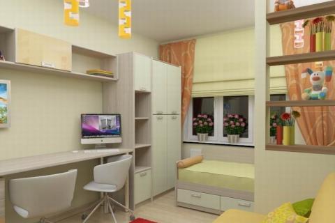Проект жилой комнаты