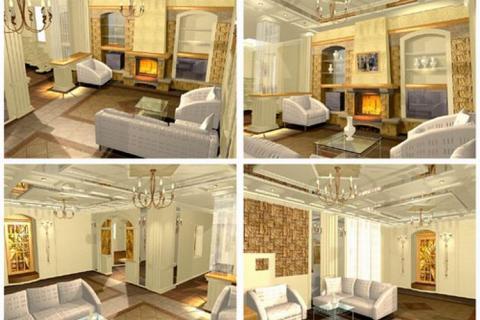 Проект дизайна интерьера гостиной