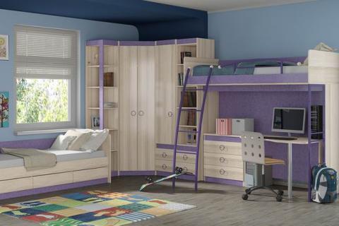 Модульная мебель с двумя кроватями