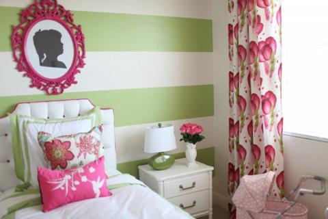 зелено-розовая детская