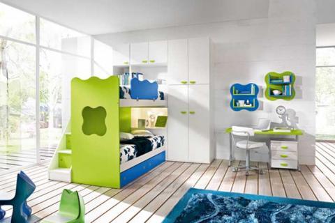 сине-зеленая детская