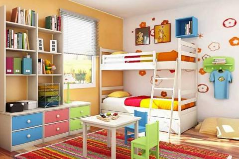 детская с двухэтажной кроватью