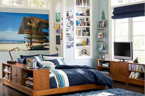 комната в морском стиле для подростка