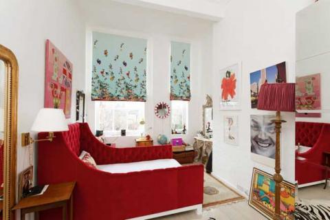 яркий дизайн комнаты подростка