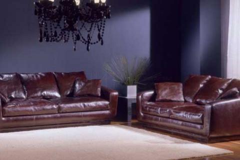 два кожаных дивана