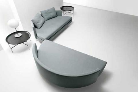 круглый диван в раскрытом виде