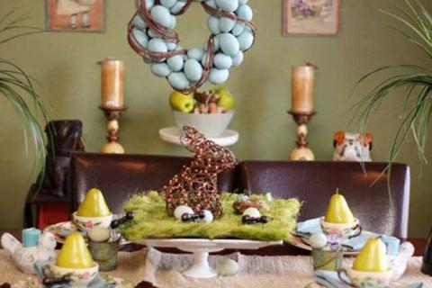 украшение стола для Пасхи