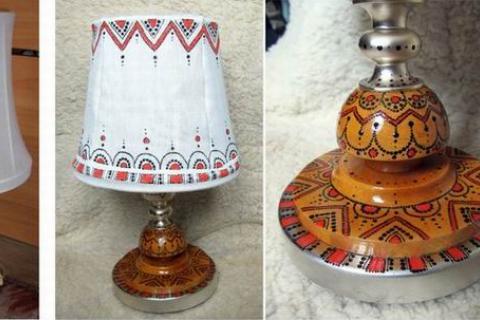 Преображение настольной лампы