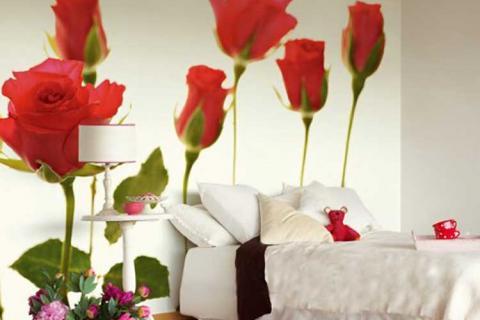 фотообои с красными розами