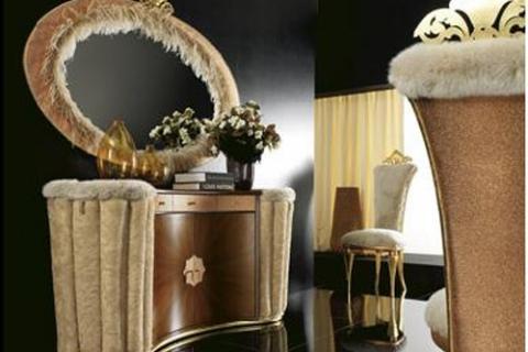 гламурная мебель в мехах