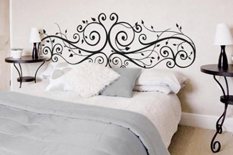 гламурный декор в спальне
