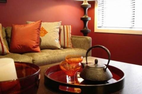 элементы восточного стиля в гостиной