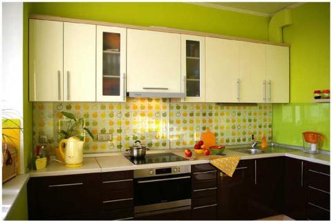 Зеленый цвет кухни