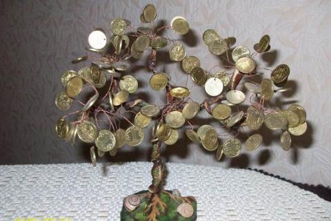 Самодельное денежное дерево