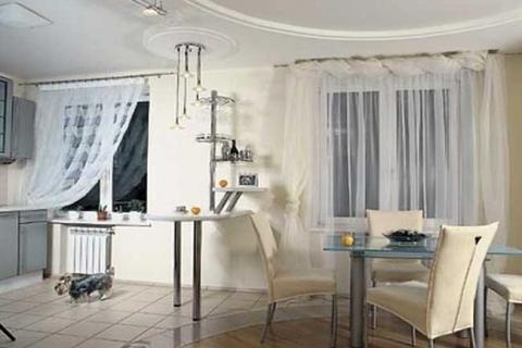 объединение кухни и комнаты