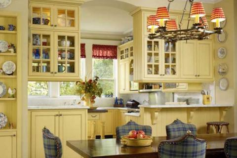 желтая кухня прованс