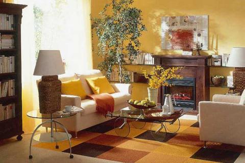 выделение зоны отдыха в маленькой гостиной