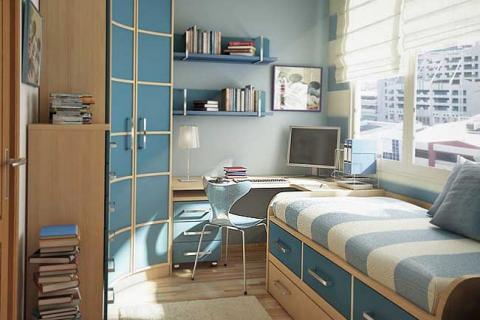 маленькая спальня для подростка