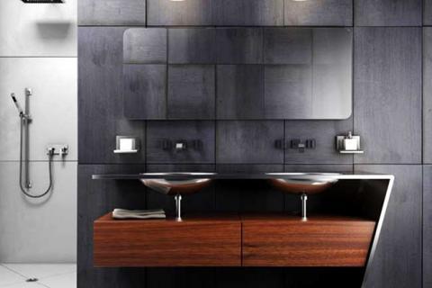 мебель для ванной с стиле техно