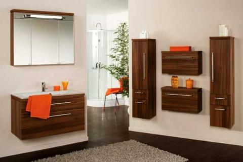 мебель под дерево в ванной комнате