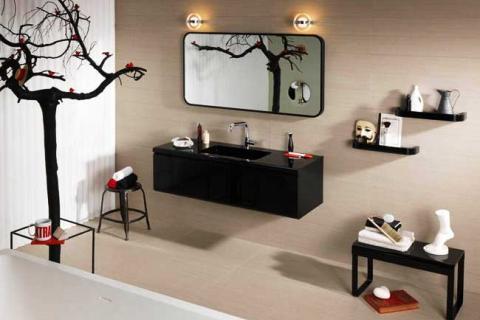 мебель для ванной комнаты в японском стиле
