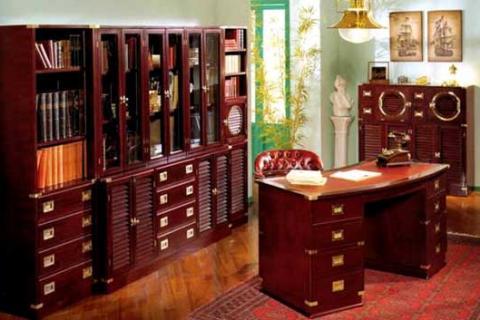 мебель для кабинета вишневого цвета