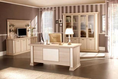 светлая мебель для кабинета