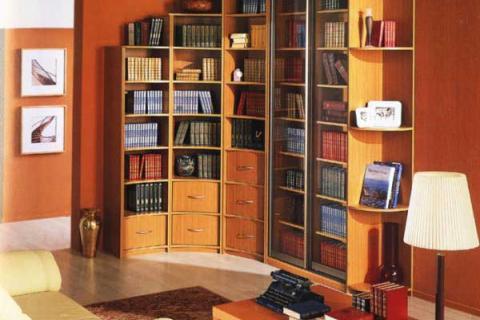 угловой шкаф для кабинета